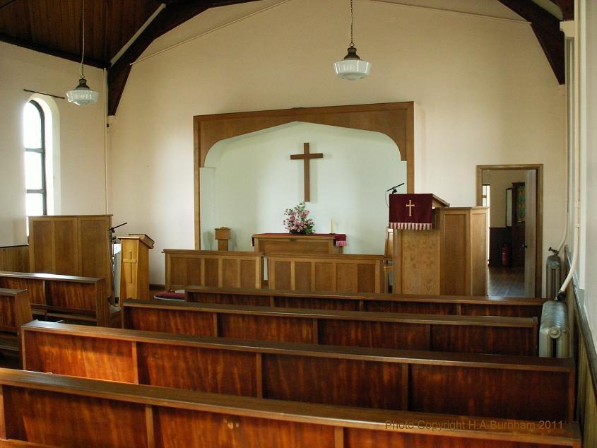 Inside Dymchurch Methodist Church 7th Aug 2011