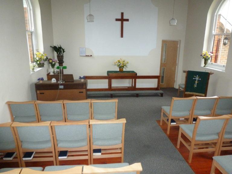 Inside Rhodes Minnis Chapel