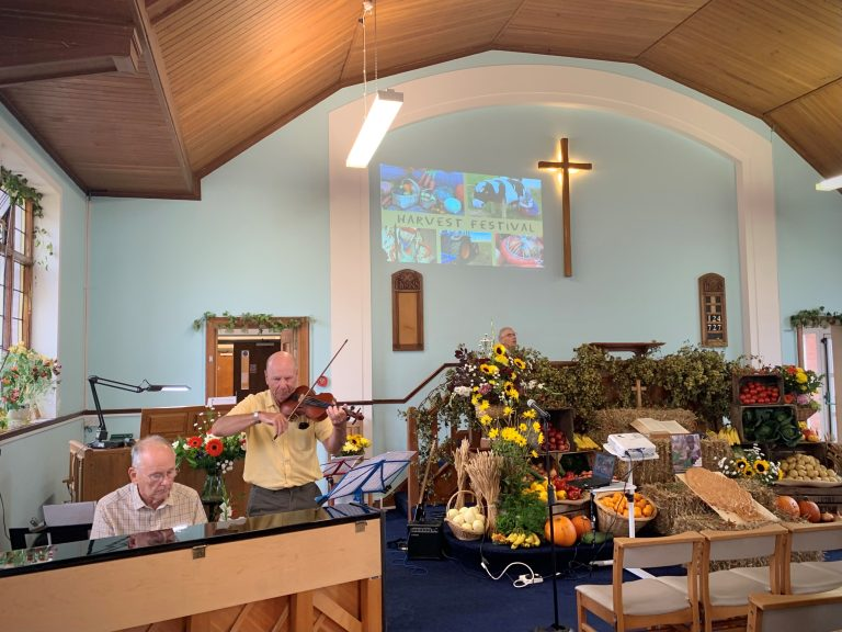 Music during the harvest service