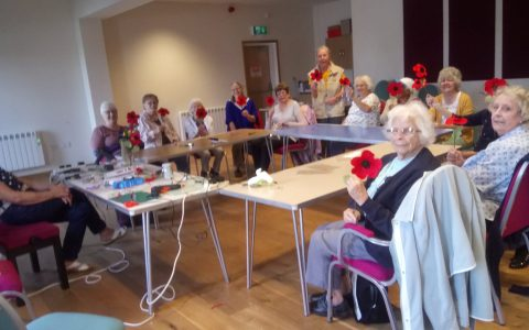 The Monday Club making Poppies.